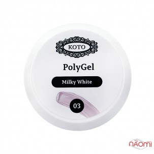 Полигель Koto Polygel 03 Millky White, 30 мл