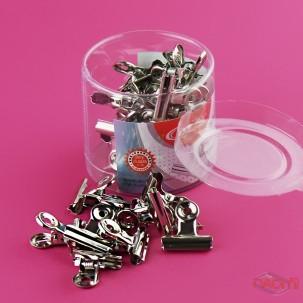 Прищіпка для затиску нігтів металева, мала, в упаковці 36 шт