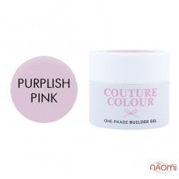 Гель однофазний Couture Colour 1-phase Builder Gel Purplish pink пурпурно-рожевий., 15 мл