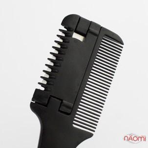 Расческа-гребень с лезвием, для самостоятельной стрижки волос