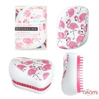Расческа Tangle Teezer Compact Styler Flamingo Skinny Dip White, фламинго