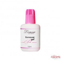 Ремувер для вій на основі гелю Lamour, рожевий, 15 мл