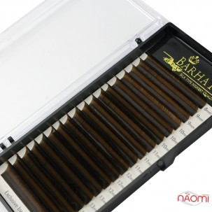 Вії Barhat C 0.07 (18 рядів: 8-15 мм), темно-коричневі