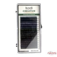 Ресницы Kodi professional Creative Collection B 0.07 (16 рядов: 10-12 мм), с цветным омбре