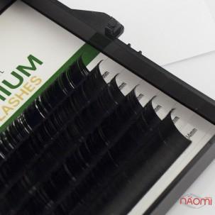 Вії Kodi professional Butterfly Green С 0.10 (6 рядків: 14 мм), чорні