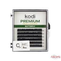 Ресницы Kodi professional Butterfly Green C 0.07 (6 рядов: 8 мм), черные