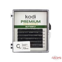 Вії Kodi professional Butterfly Green С 0.07 (6 рядків: 13 мм), чорні