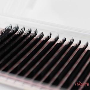 Ресницы Lash Secret D 0,07 (16 рядов: 9-12 мм), черные