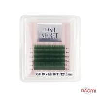 Ресницы Vivienne Lash Secret С 0,10 (6 рядов: 8,9,10,11,12,13 мм), зеленые