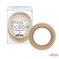Резинка-браслет для волос Invisibobble SLIM Bronze Me Pretty, цвет бронза, 47х35 мм, 3 шт.