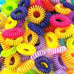 Резинка-браслет для волосся 2,6х2,6см, колір асорті, 10 шт.