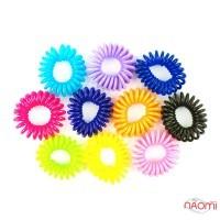 Резинка-браслет для волос 2,6х2,6см, цвет ассорти, 10 шт.