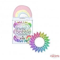 Резинка-браслет для волосся Invisibobble KIDS Magic Rainbow, колір веселка, 30х13 мм, 3 шт.