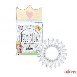Резинка-браслет для волос Invisibobble KIDS Princess Sparkle, прозрачная, 30х13 мм, 3 шт.