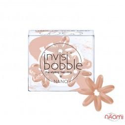 Резинка-браслет для волосся Invisibobble NANO Make-up Your Mind, колір бежевий, 3 шт., 20х3 мм