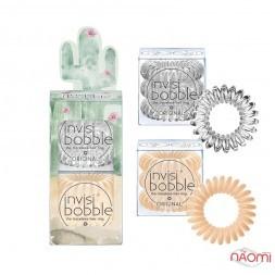 Резинка-браслет для волос Invisibobble ORIGINAL Desert Bloom Looking Sharp, бежевый, прозрачн, 6 шт.