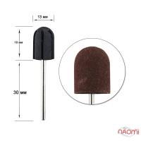 Ковпачок насадка для фрезера з гумовою основою, D 13 мм, абразивність 180, 3 шт.