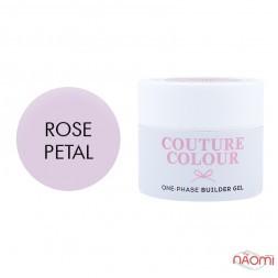 Гель однофазний Couture Colour 1-phase Builder Gel Rose petal ніжний рожевий, 15 мл