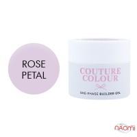 Гель однофазный Couture Colour 1-phase Builder Gel Rose petal, нежный розовый, 50 мл