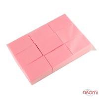 Салфетки безворсовые 6х4 см, в упаковке 600 шт., цвет розовый