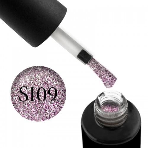 Гель-лак Naomi Self Illuminated SI 09 сверкающий розово-серебристый с блестками и слюдой, 6 мл, фото 1, 95.00 грн.