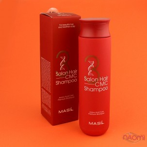 Шампунь для волос Masil 3 Salon Hair CMC Shampoo восстанавливающий с аминокислотами, 300 мл