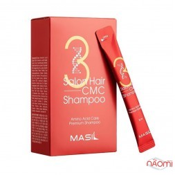 Шампунь для волос Masil 3 Salon Hair CMC Shampoo восстанавливающий с аминокислотами, 8 мл