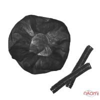 Шапочка Гофре, цвет черный, 5 шт.