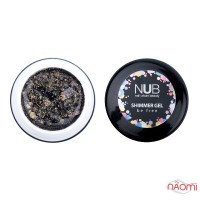 Гель NUB Shimmer Gel 06, темно-бронзовый голографический микс блесток и конфетти, 5 г