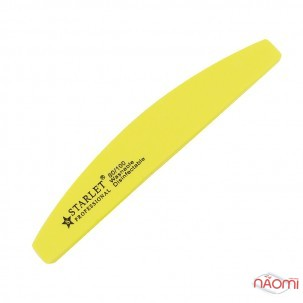 Шлифовщик для ногтей Starlet Professional 80/100, полукруг, цвет в ассортименте