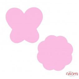 Силіконова палітра для змішування різних текстур Метелик, квітка, колір рожевий, 2 шт.