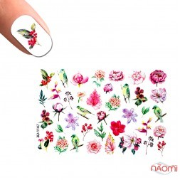 Слайдер-дизайн 3D 1147 Цветы, птицы