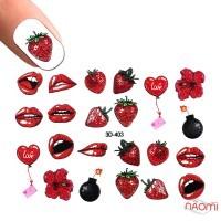 Слайдер-дизайн 3D 403 Полуничний поцілунок