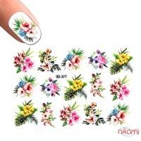 Слайдер-дизайн 3D 377 Цветы, листья