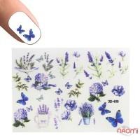 Слайдер-дизайн 3D 409 Цветы, бабочки