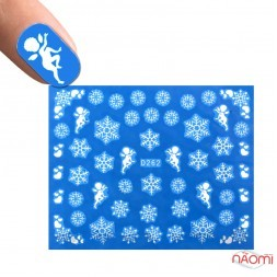 Слайдер-дизайн D 262 Сніжинки, янгол