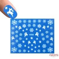 Слайдер-дизайн D 264 Снежинки, олени