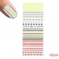 Слайдер-дизайн DS 476 Цветные узоры, зигзаги, цветы