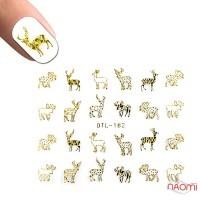 Наклейка для ногтей DTL-182 Олени