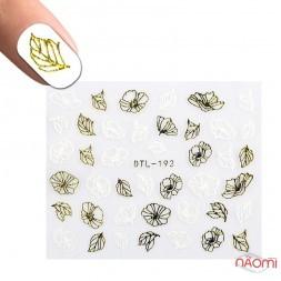 Наклейка для нігтів DTL-193 Квіти