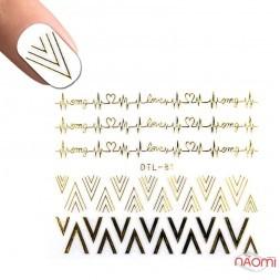 Наклейка для нігтів DTL-081 Візерунки