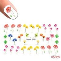 Слайдер-дизайн Fonix 2131 Цветы акварель