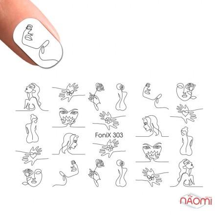 Слайдер-дизайн Fonix 303 Нити, лица, фото 1, 20.00 грн.