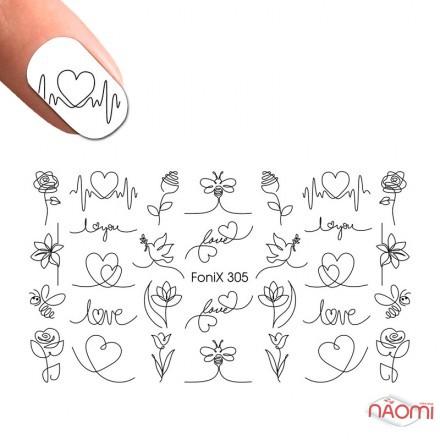Слайдер-дизайн Fonix 305 Нити, цветы, фото 1, 20.00 грн.