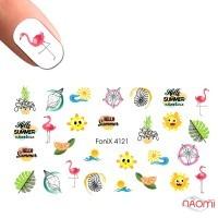 Слайдер-дизайн Fonix 4121 Лето, фламинго