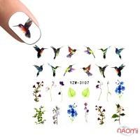 Слайдер-дизайн YZW-3107 Цветы, птицы
