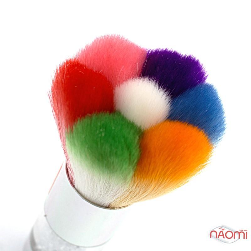 Мітелка для волосся Starlet Professional, зі стразами, кольорова, ворс 4,7 см, фото 2, 130.00 грн.