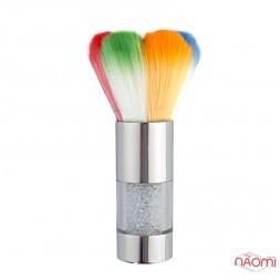 Мітелка для волосся Starlet Professional, зі стразами, кольорова, ворс 4,7 см