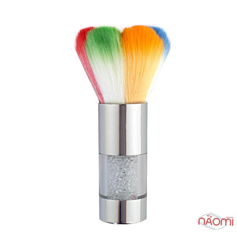 Мітелка для волосся Starlet Professional, зі стразами, кольорова, ворс 4,7 см, фото 1, 130.00 грн.