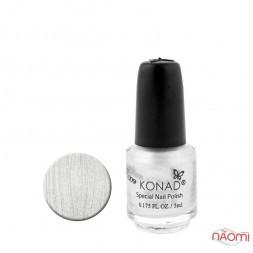 Спеціальний лак для стемпінга KONAD 5 мл - Silver / Срібний S03